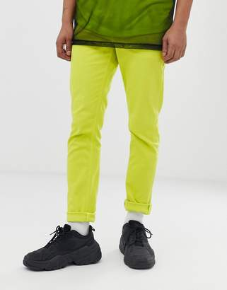 Asos Design DESIGN slim jeans in neon green
