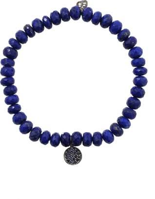 Sydney Evan Sapphire Disc Lapis Beaded Bracelet