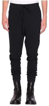Ann Demeulemeester Black Cotton Grimm Sweatpants