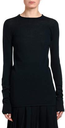 Agnona Cashmere-Silk Fluffy Tunic-Length Sweater