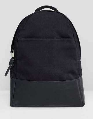 Asos Design DESIGN large canvas backpack