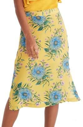 Madewell Side Button Silk Skirt