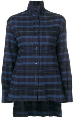 Golden Goose check print button shirt