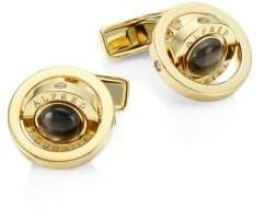 Dunhill Men's Gyro Goldplated Black Mother-Of-Pearl Cufflinks - Gold