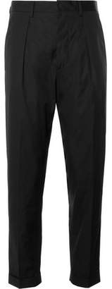 Prada Slim-Fit Tapered Cotton-Poplin Trousers