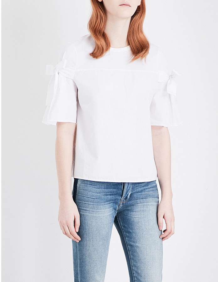 Clu Clu Ruffled cotton t-shirt