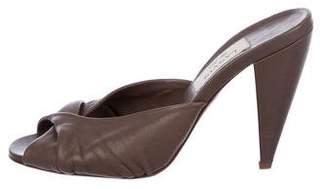 Lanvin Leather Slide High-Heel Sandals