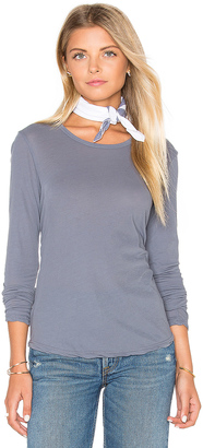 James Perse Long Sleeve Crew Neck Tee $135 thestylecure.com