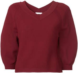 ASTRAET v-neck cropped sleeve jumper