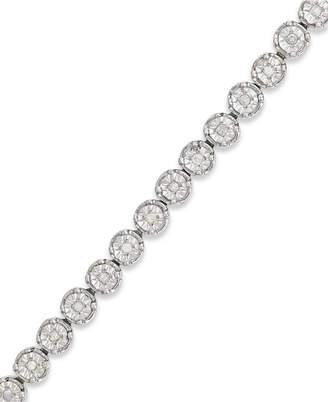 Macy's Diamond Tennis Bracelet in Sterling Silver (1/2 ct. t.w.)