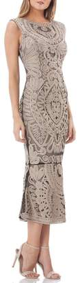 JS Collections Soutache Mesh Dress
