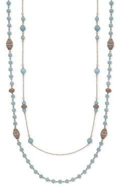 Jenny Packham Crystal Beaded Two-Row Necklace