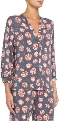 Eberjey Veranda Floral-Print Pajama Top