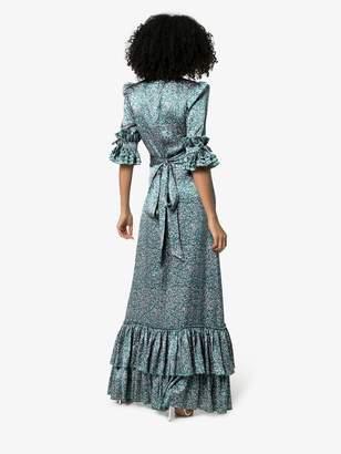 30a5636bbf37 The Vampire's Wife Veneration leaf-print silk dress