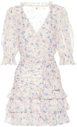 LoveShackFancy Hanna floral silk minidress