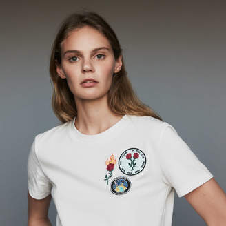 Maje Cotton T-shirt with patch