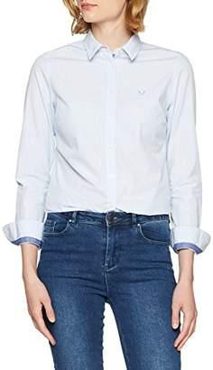 Crew Clothing Women's's Striped Classic Shirt Blue/White