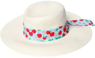 Fendi Panama Hat With Cherry Hatband