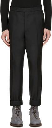 Thom Browne Black Wool Tapered Trousers $1,750 thestylecure.com