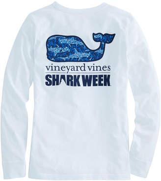 Vineyard Vines Long-Sleeve Camo Shark Whale Fill Pocket Tee