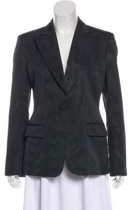 Gucci Peak-Lapel Long Sleeve Blazer