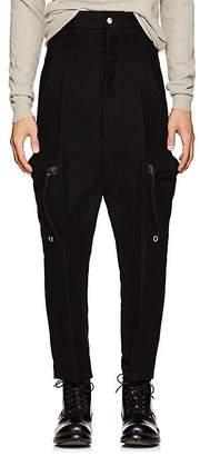 Rick Owens Men's Cotton-Silk Moleskin Drop-Rise Trousers