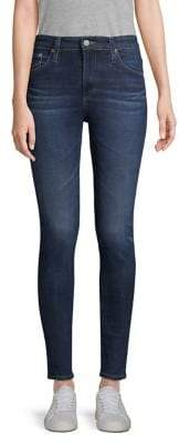 Paige Farrah Stretch Skinny Ankle-Length Jeans