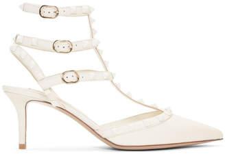 Valentino Off-White Garavani Rockstud Pump Heels