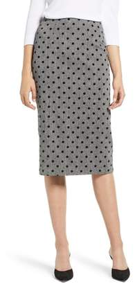 Halogen Dot Pencil Skirt