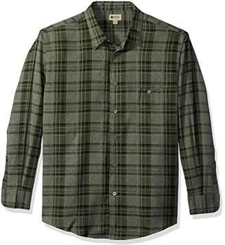 Haggar Men's Long Sleeve Microfiber Woven Shirt