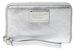 Marc By Marc Jacobs Classic Q Wingman Metallic Leather Wristlet