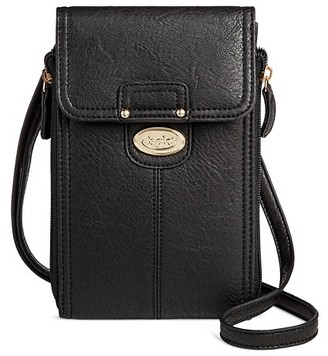 Bolo Women's Faux Leather Wallet with Back/Interior Compartments and Zipper Closure - Black $19.99 thestylecure.com