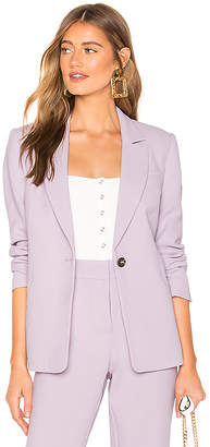 1 STATE Textured Crepe One Button Blazer