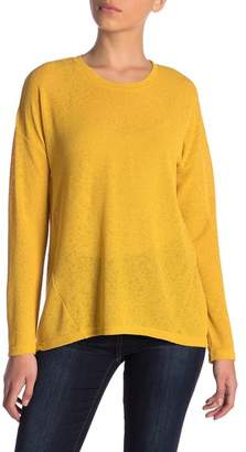 Catherine Malandrino Semi-Sheer Dolman Sweater (Petite)