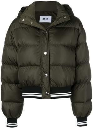 MSGM cropped padded jacket