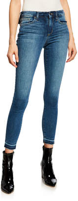 Joe's Jeans Mid-Rise Skinny Ankle Raw Edge Jeans