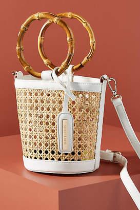 Anthropologie Ferris Wicker Ring Handle Crossbody Bag