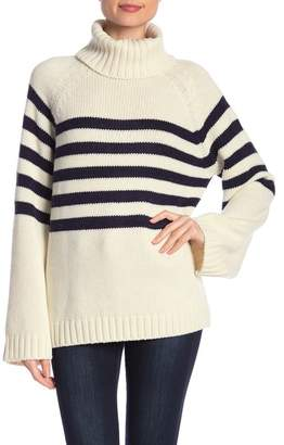 Lucca Couture Striped Turtleneck Sweater