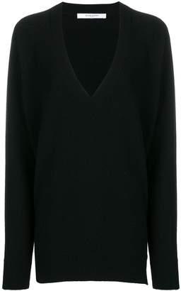 Givenchy oversized zip-side v-neck jumper