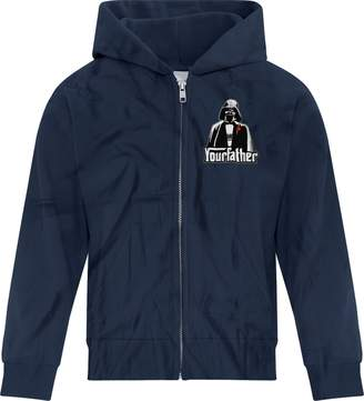 Star Wars BSW Youth Boys Your Father Darth Vader Godfather Zip Hoodie LRG Navy