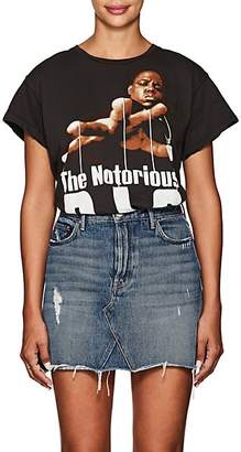 "MadeWorn Women's ""The Notorious B.I.G."" Distressed Cotton T-Shirt - Black"
