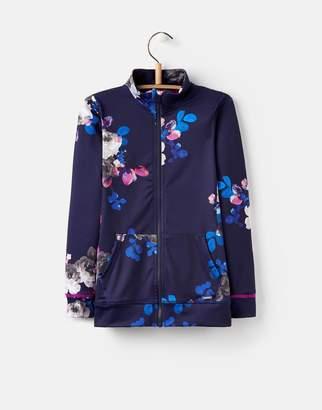 Joules Clothing Navy Floral Viva Active Zip Up Sweatshirt 32yr