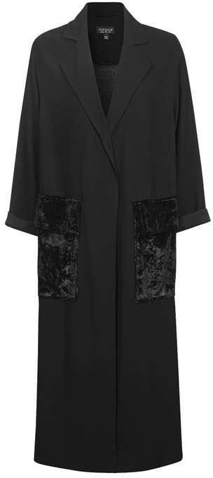 TopshopTopshop Velvet pocket duster coat