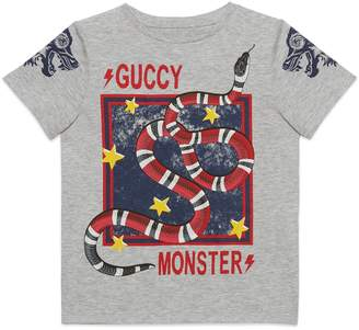 """Gucci Children's """"Guccy Monster"""" and Kingsnake T-shirt"""