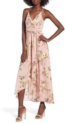 Soprano Floral Faux Wrap Midi Dress