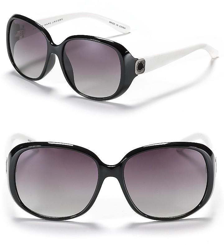 MARC BY MARC JACOBS Colorblock Logo Sunglasses