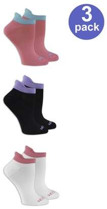 Fruit of the Loom Ladies Breathable No Show Socks with Arch Support, 3 Pair