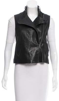 Alexander Wang Mock Neck Leather Vest