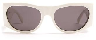 Celine Oval Acetate Sunglasses - Womens - Ivory