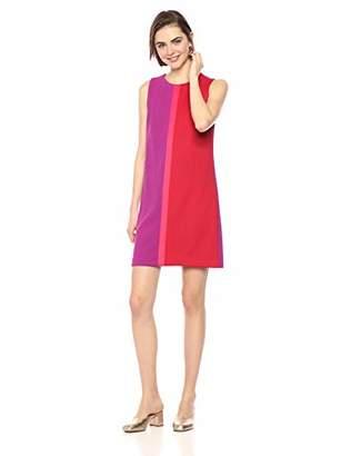 Betsey Johnson Women's Colorblock Scuba Crepe Shift Dress, Pink/Multi